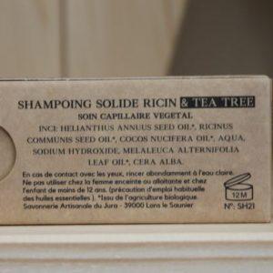 Shampoing du Jura  Ricin et Tea Tree