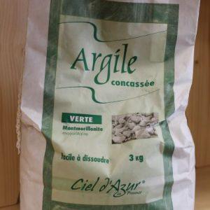 Argile verte concassée 3 kg
