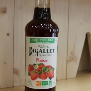 Sirop fraise «Bigallet» 70 cl