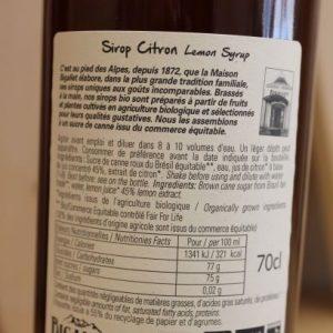 Sirop citron «Bigallet» 70 cl