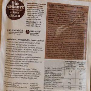 Préparation crème cacao 45 g