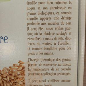 Coussin Nuque aux graines d'épeautre