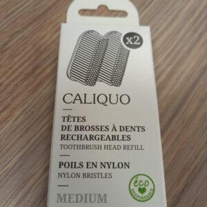 Pack de deux recharges -medium- pour brosses à dent adulte